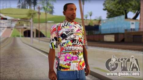 Sticker Bomb T-Shirt para GTA San Andreas