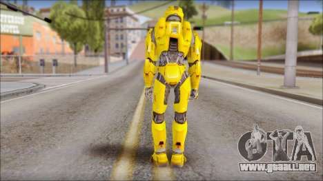 Masterchief Yellow from Halo para GTA San Andreas segunda pantalla