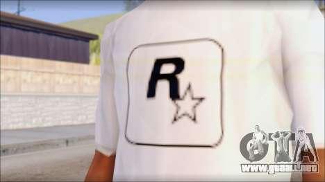 Rockstar Games White T-Shirt para GTA San Andreas tercera pantalla