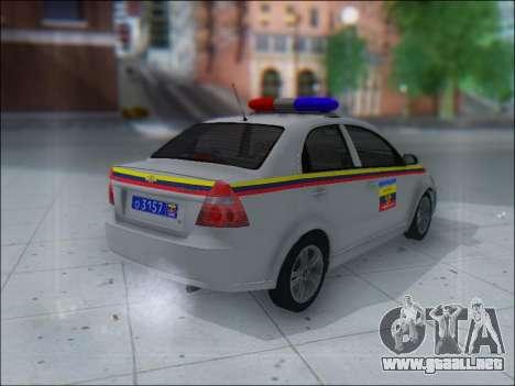 Chevrolet Aveo Милиция OHP para la visión correcta GTA San Andreas