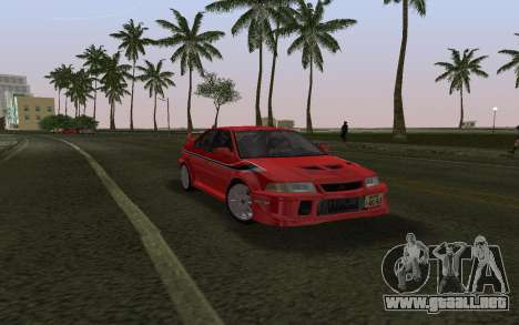 Mitsubishi Lancer Evolution 6 Tommy Makinen Edit para GTA Vice City