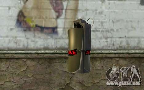 Smoke Grenade para GTA San Andreas segunda pantalla