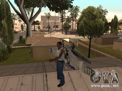 Optimus Jetpack para GTA San Andreas segunda pantalla