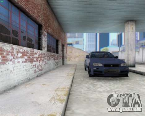 Nissan Skyline R34 Fast and Furious 4 para visión interna GTA San Andreas