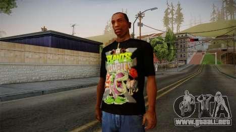 Plants versus Zombies T-Shirt para GTA San Andreas