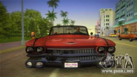 Cadillac Eldorado para GTA Vice City vista posterior