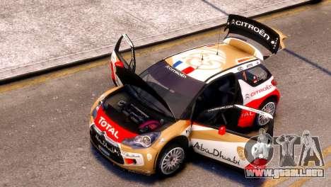 Citroen DS3 WRC para GTA 4 Vista posterior izquierda