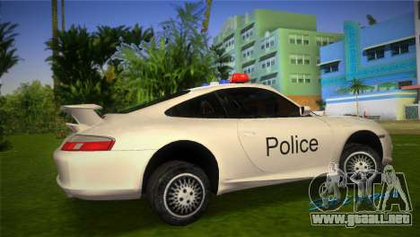 Porsche 911 GT3 Police para GTA Vice City left