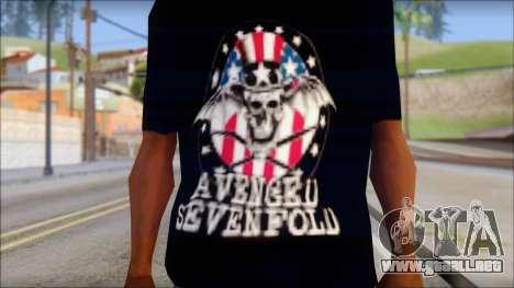 A7X Love It Or Die Fan T-Shirt para GTA San Andreas tercera pantalla