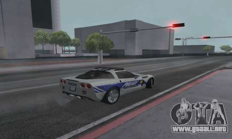 Chevrolet Corvette Z06 Police para GTA San Andreas left