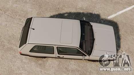 Volkswagen Golf GTI Mk2 para GTA 4 visión correcta