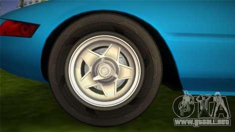 Ferrari 365 GTB para GTA Vice City visión correcta