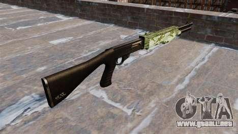 Ружье Franchi SPAS-12 Verde Camo para GTA 4 segundos de pantalla