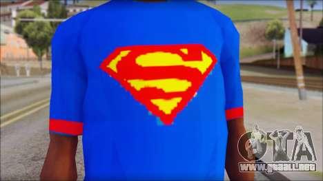 Superman T-Shirt v1 para GTA San Andreas tercera pantalla