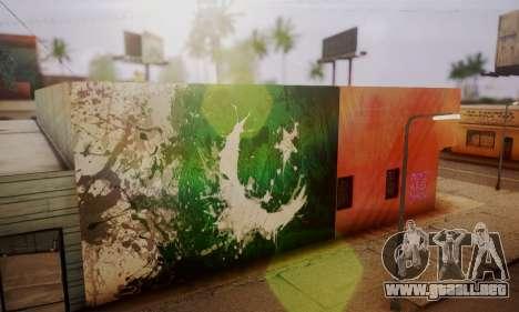 Pakistani Flag Graffiti Wall para GTA San Andreas