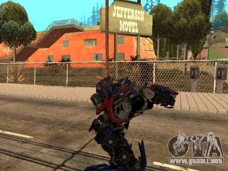 Optimus Sword para GTA San Andreas séptima pantalla
