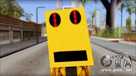 Robot Head LMFAO para GTA San Andreas tercera pantalla