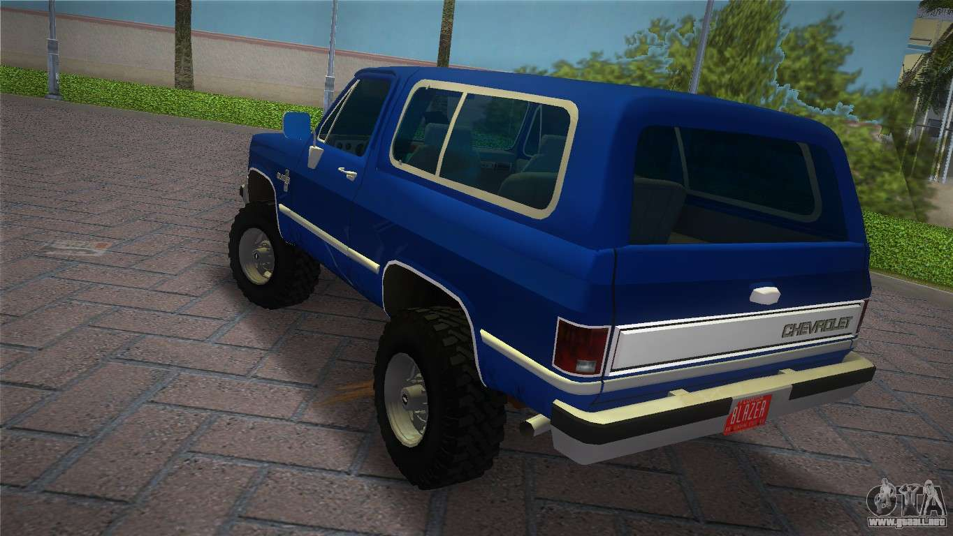 Chevrolet Blazer K5 Silverado 1986 para GTA Vice City left