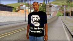 Trollface and Forever Alone T-Shirt para GTA San Andreas