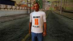 COD Black Ops II White Fan T-Shirt para GTA San Andreas