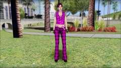 Rock Chicks Purple Ped para GTA San Andreas