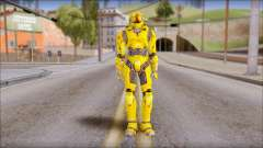 Masterchief Yellow from Halo para GTA San Andreas