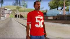 San Francisco 69ers 52 Willis Red T-Shirt para GTA San Andreas