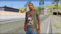 I love my gun T-Shirt para GTA San Andreas