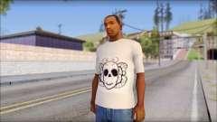 Skull Butterfly T-Shirt para GTA San Andreas