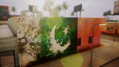 Pakistani Flag Graffiti Wall para GTA San Andreas