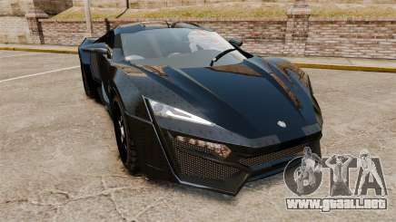 Lykan HyperSport Black para GTA 4