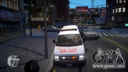 Israel MDA Ambulance para GTA 4