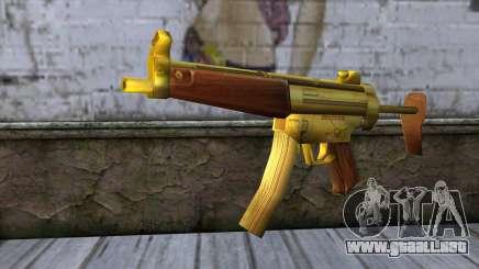 MP5 Gold from CSO NST para GTA San Andreas
