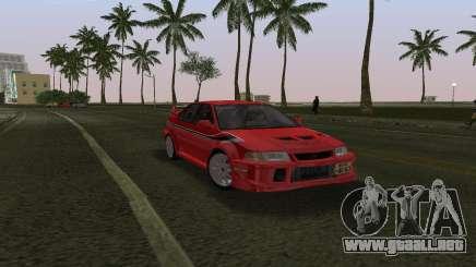 Mitsubishi Lancer Evolution 6 Tommy Makinen Edit para GTA Vice City
