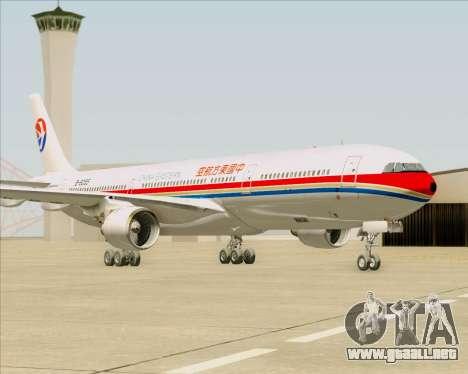 Airbus A330-300 China Eastern Airlines para GTA San Andreas vista posterior izquierda