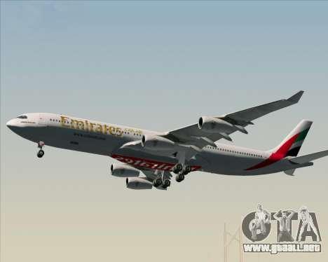 Airbus A340-313 Emirates para las ruedas de GTA San Andreas