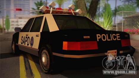 GTA 3 Police Car para GTA San Andreas left