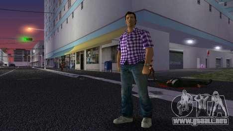 Kockas polo - lila T-Shirt para GTA Vice City sucesivamente de pantalla