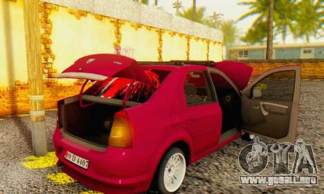 Dacia Logan 1.6 MPI Tuning para GTA San Andreas vista hacia atrás