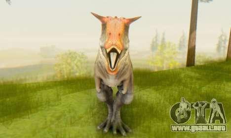 Carnotaurus para GTA San Andreas tercera pantalla