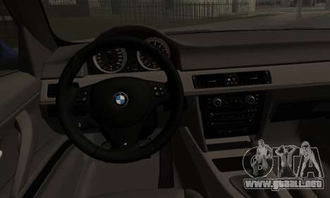 BMW M3 E90 Stance Works para GTA San Andreas vista posterior izquierda