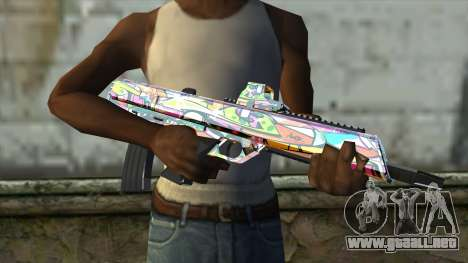 Graffiti Assault rifle para GTA San Andreas tercera pantalla