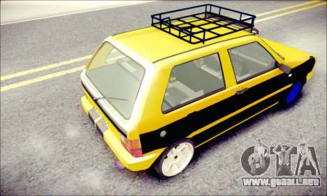 Fiat Uno para GTA San Andreas vista posterior izquierda