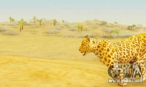 Leopard (Mammal) para GTA San Andreas sucesivamente de pantalla