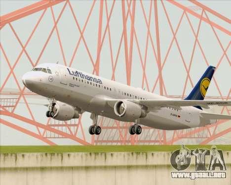 Airbus A320-211 Lufthansa para vista lateral GTA San Andreas