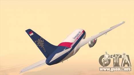 Indonesian Plane Sriwijaya Air para GTA San Andreas vista posterior izquierda