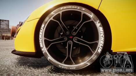 McLaren 650S Spider 2014 [EPM] Michelin v4 para GTA 4 vista hacia atrás