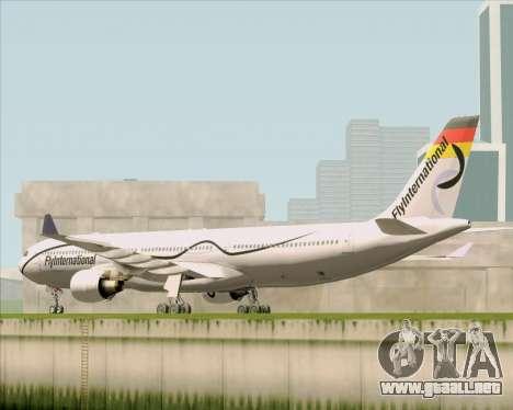 Airbus A330-300 Fly International para GTA San Andreas vista posterior izquierda