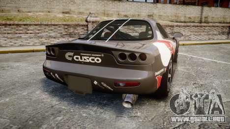 Mazda RX-7 Cusco para GTA 4 Vista posterior izquierda
