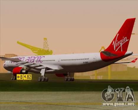 Airbus A330-300 Virgin Atlantic Airways para la visión correcta GTA San Andreas